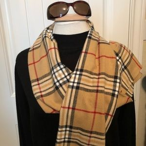 Plaid scarf. Designer look a like